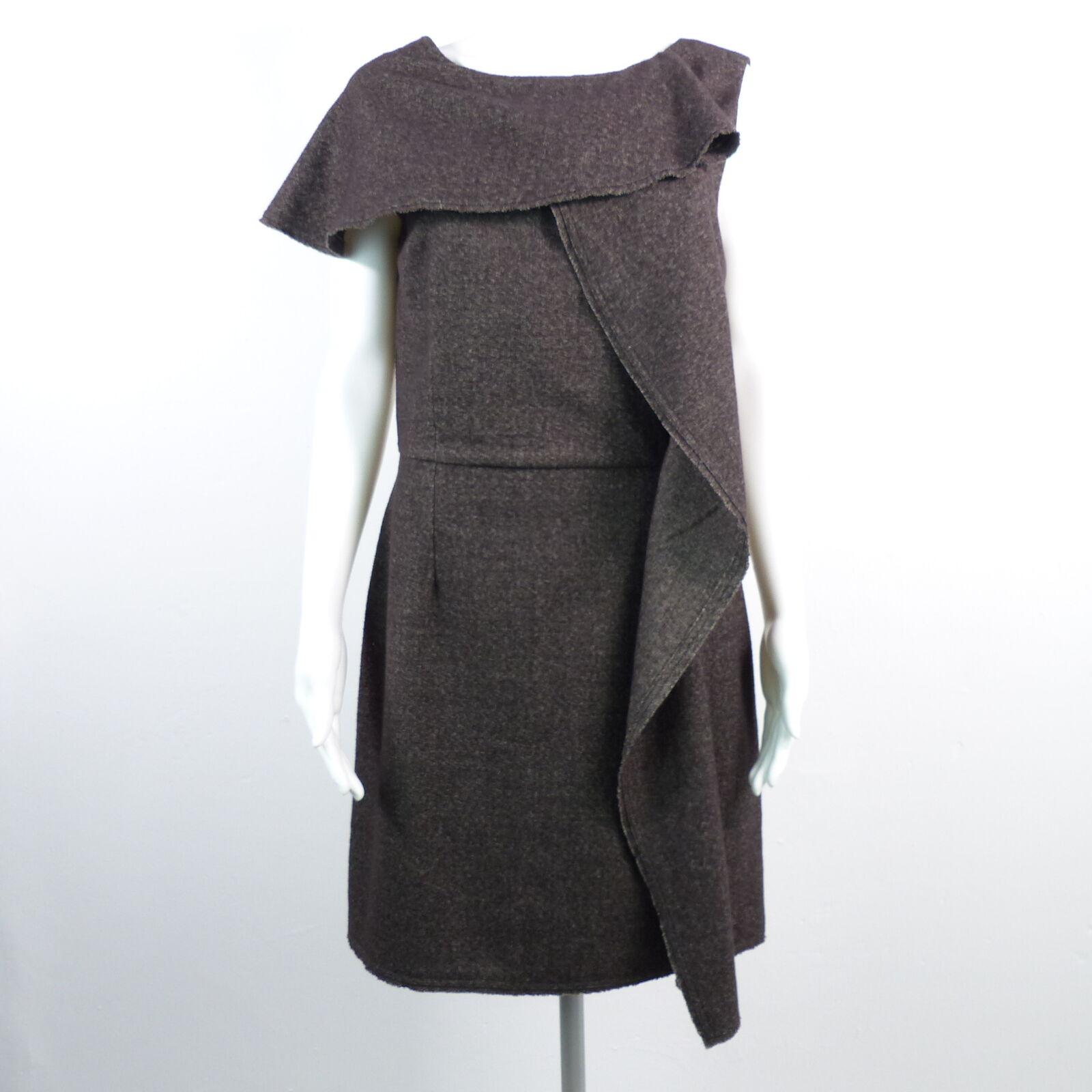 85ce8f9a91b6 FENDI Abito Vestito ASTUCCIO Bodycon DONNA IT 44 100% LANA robe dress  MarroneeE nvylpw1950-Vestiti