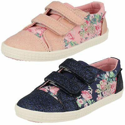 Girls Startrite Sparkly Canvas Shoes - Edith