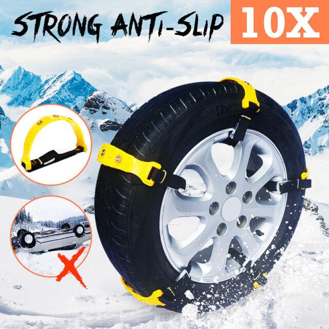 10pcs Car Anti-skid Snow Tyre Tire Chains Belt Beef Tendon Vehicles Wheel Chain
