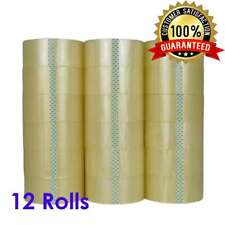 12 Rolls 2 X 120 Yards 360 Ft Box Carton Sealing Packing Package Tape Clear