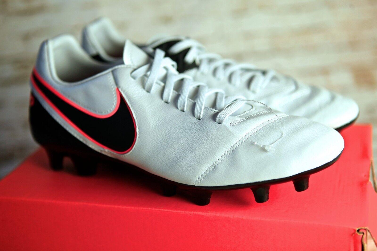 Nike Uomo 8 tiempo mystic / fg nero di pelle calcio arancione gli scarpini da calcio pelle leggenda 1254eb