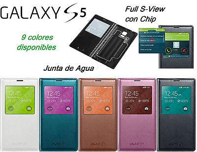 Funda Carcasa S View para Samsung Galaxy S5 Flip Cover más Protector de pantalla