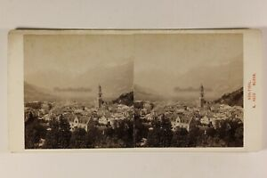 Italia Merano Südtirol Foto Alois Birra Stereo Vintage Albumina c1890