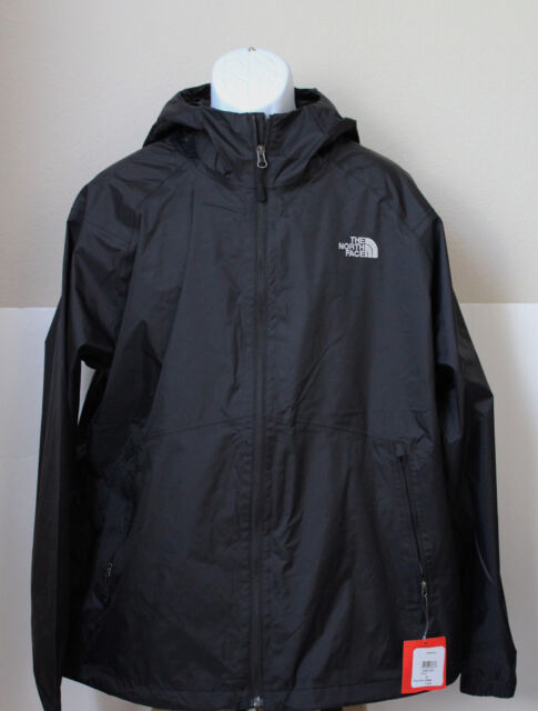 be200768b NWT The North Face Men's Boreal Rain Jacket Water Proof Black SIze L
