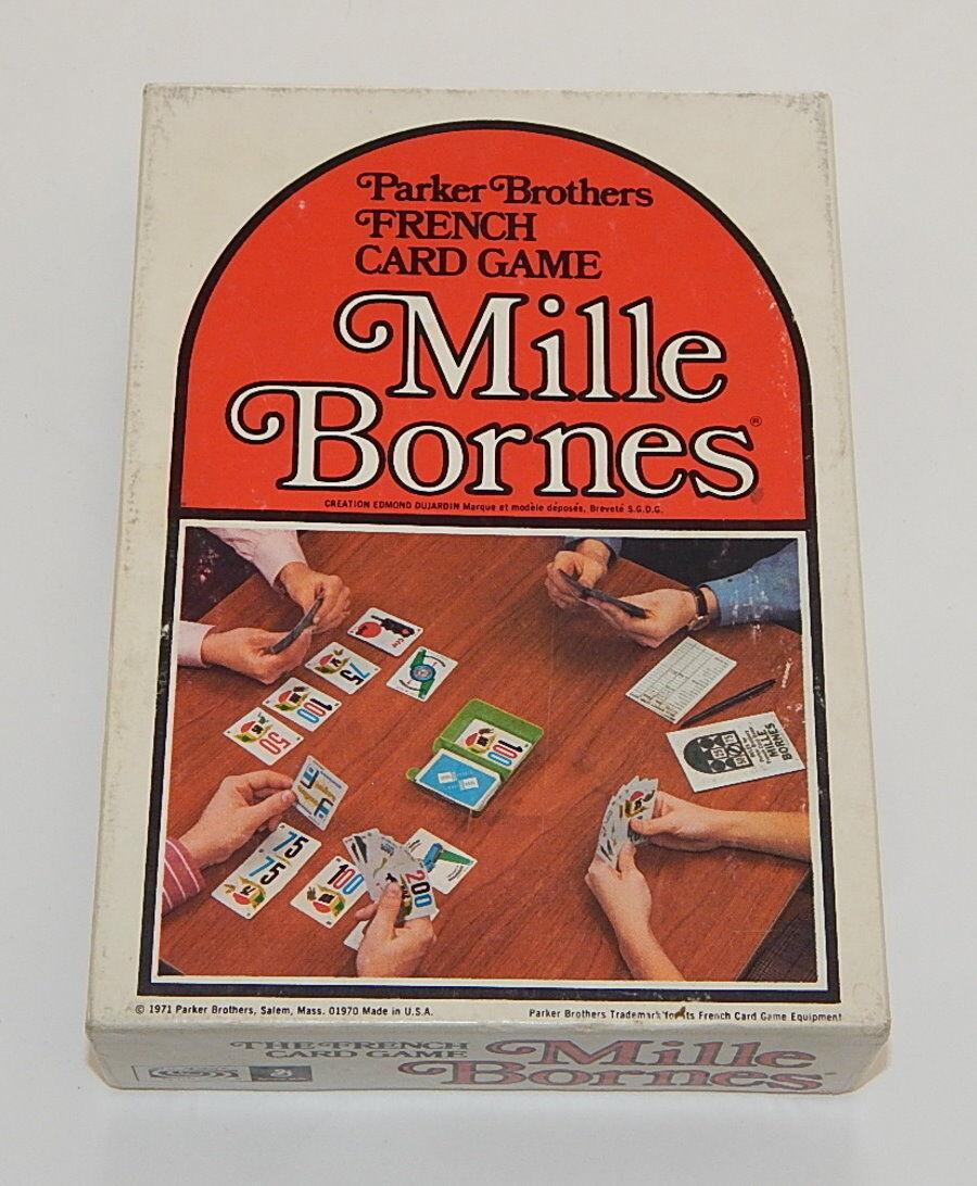 Mille bornes komplette 1971 parker brothers ausgezeichnete r9588