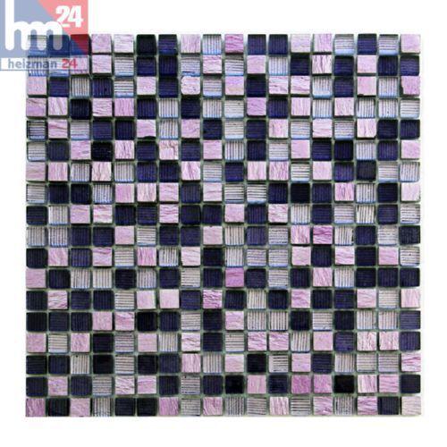 Glasmosaik Avellino Naturstein Mosaikfliese violett lila rosa 29,5x29,5 Bad Pool