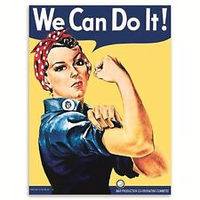 We Can Do It! Woman's Land Army, Classic Gardening, Girl, Small Metal/Tin Sign