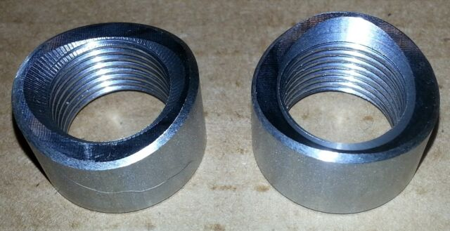 304 STAINLESS STEEL  sensor bung,  wideband O2 pre-curved notched 18 x 1.5