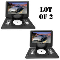 Lot Of 2 Pyle 14 Portable Swivel Tft Dvd Cd/usb/sd Player W/remote+car Adapter on sale