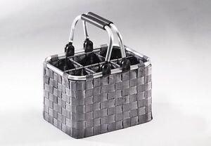 Flaschentraeger-fuer-6-Flaschen-aus-Metallrahmen-mit-Nylongeflecht-in-grau
