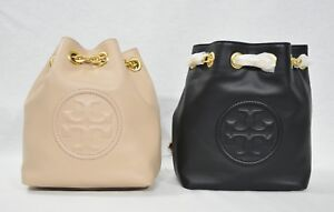 ccdc5df5ab68 Details about NWT Tory Burch Fleming Mini Backpack in Leather. Black Color  OR New Mink Color