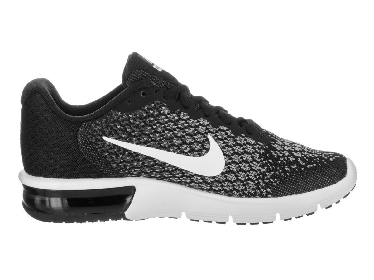 Damen Nike Air Max Aufeinanderfolgend 2 Schwarz Turnschuhe 852465 002 Deutsche Outlets