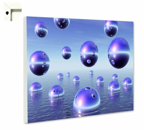 Magnettafel Pinnwand Memoboard mit Motiv lila surreal Kugeln