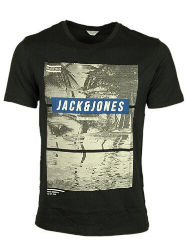 MENS NEW TSHIRT SHORT SLEEVE JACK /& JONES IN BLACK CAYENNE WHITE COLOURS M-XL