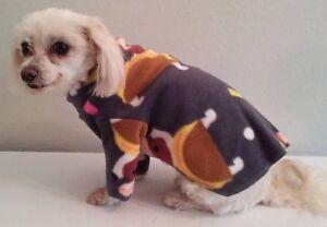 Gray-Taco-Dog-Fleece-Long-Sleeve-Shirt-Dog-Puppy-Pet-Clothes-XXXS-Large