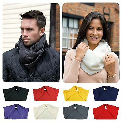 Aufstrebend Mens Womens Ladies Snood Knit Knitted Super Soft Neck Warmer Ski Scarf Wrap