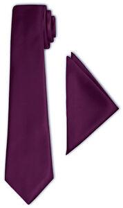 Crixus-Cravate-Classique-aubergine-violet-chic-satin-chiffon-26x26-cm-Costume-Smoking
