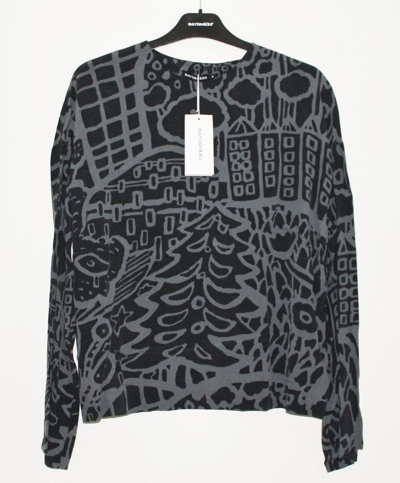 Marimekko Finland, Gret Adam viscose crepe shirt, Größe 36