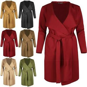 02a06c2e110 Image is loading Plus-Size-Womens-Ladies-Waterfall-Cape-Cardigan-Oversized-