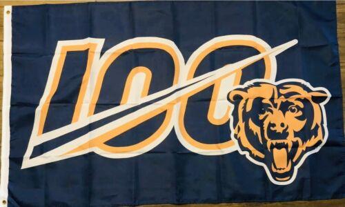 Chicago Bears 100th Season Flag 3x5 100 NFL Banner Anniversary Football