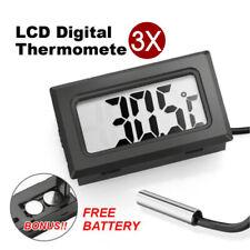 3x LCD Digital Thermometer for Fridge/Freezer/Aquarium/FISH TANK Temperature AU