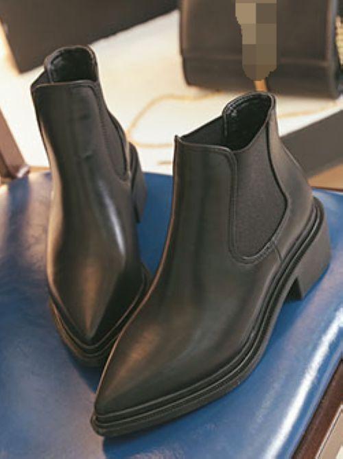 Bottes Élégant Basses Rangers 3 cm noir Confortable Cuir Synthetique Cw961