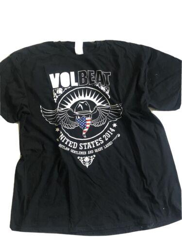 Volbeat Outlaw Gentleman 2014 Tour Shirt Xxl 2xl