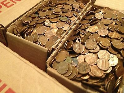 Few Wheat Backs.10 LBS Machine Sorted 1959-1982 $15 Worth in US Copper Pennies