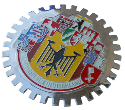 10 German cities car grille badge