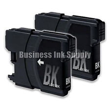2 BLACK New LC61 Ink Cartridge for Brother MFC-495CW MFC-J410W MFC-295CN LC61BK