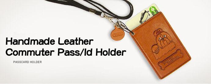 Beagle Handmade Dog 3D Leather Commuter ID Licence Pass Card Holder VANCA #26443