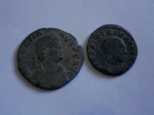 lote-2-monedas-romanas-a-identificar-100-original-piezas-bronce