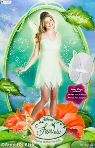 Tinkerbell-Costume-Disney-Licensed-Fairies-Adult-2-Pc-Gr-amp-Slv-Dress-amp-Wings-Md