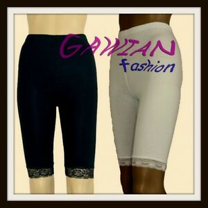 Girls-Over-Knee-Gym-School-Sports-Dance-Shorts-Lace-Ham-Age-1-14-Years-Leggings
