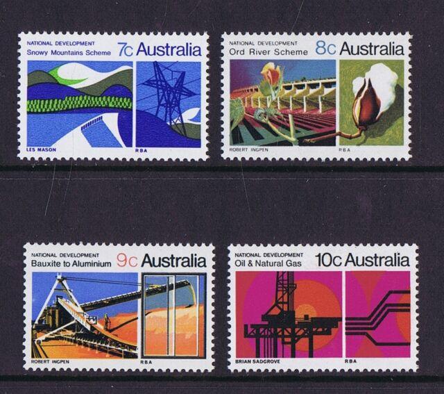Australian Decimal Stamps 1970 National Development Set of 4 MNH
