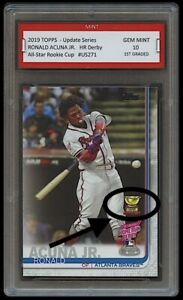 RONALD-ACUNA-JR-TOPPS-UPDATE-HOME-RUN-DERBY-ROOKIE-GOLD-CUP-CARD-1ST-GRADED-10