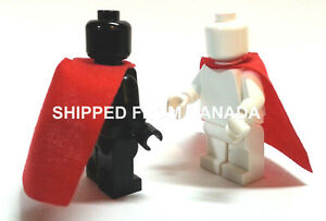 2- RED Cape Lego Star Wars Harry Potter Castle King Batman Superman minifig