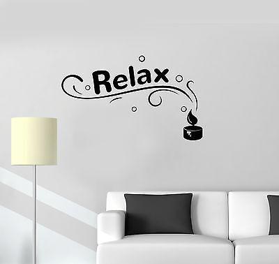 Buddha Bathroom Relax Spa Bathroom Wall Art Stickers Decals Vinyl Home Room Deco XL,Black