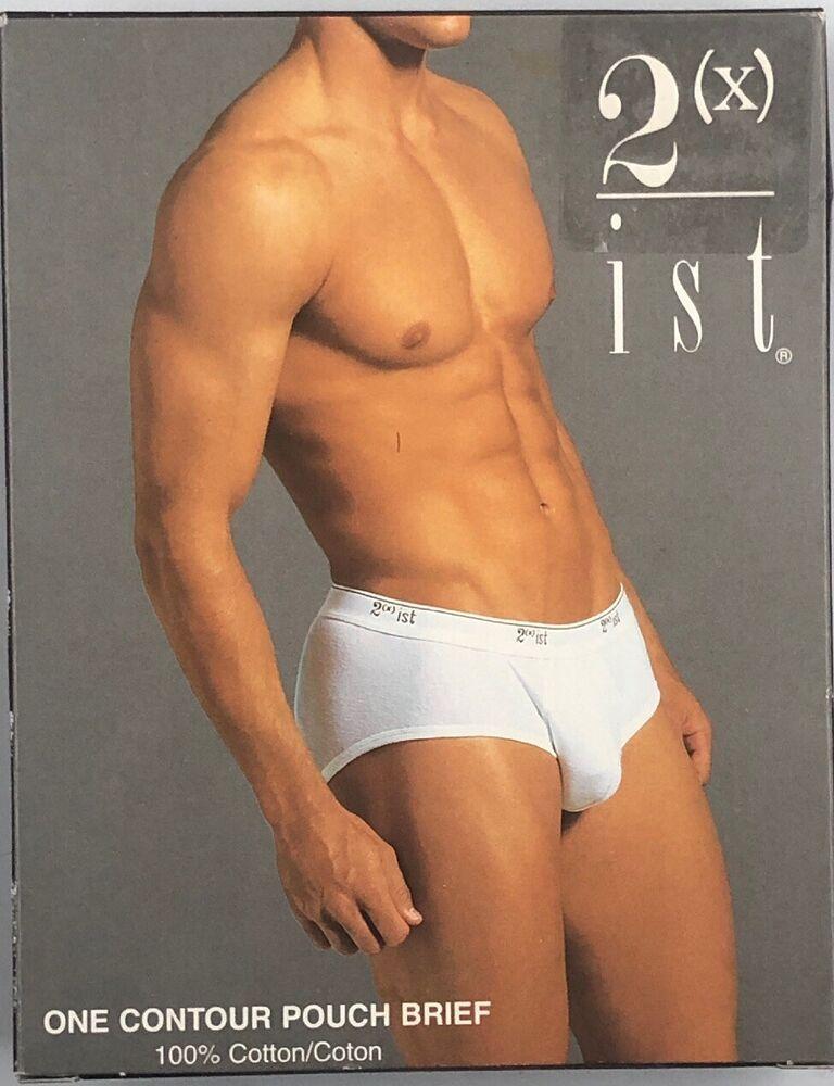2 Xist Un Contour Pouch Brief-blanc-sz. M Men's Underwear
