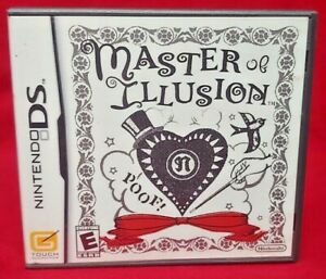 Master of Illusion - Nintendo DS Lite 3DS 2DS Game Complete Works Tested