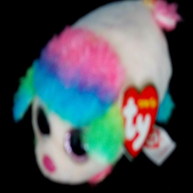 """TY Beanie Babies Teeny Tys Stackable Floral Poodle 3/"""" Plush NEW"""