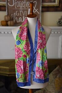 Ford Warriors in Pink Lilly Pulitzer Silk Scarf Pink Blue