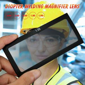 Diopter Welding Magnifier Lens Cheater Lens Welder Screen Helmets Glass 1.0-3.0