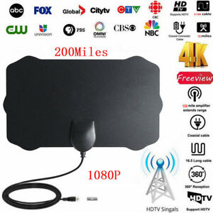 200-Millas-De-Alcance-Antena-Interior-Tv-Digital-Hd-Skywire-Digital-HDTV-1080p-Antena