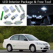 7PCS Bulbs White LED Interior Lights Package kit Fit 2001-2005 Honda Civic J1