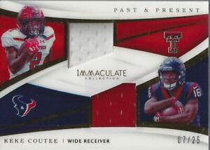 new product 55a6f e9592 Details about 2018 Immaculate Past and Present Jerseys #29 Keke Coutee  Jersey /25 - NM-MT