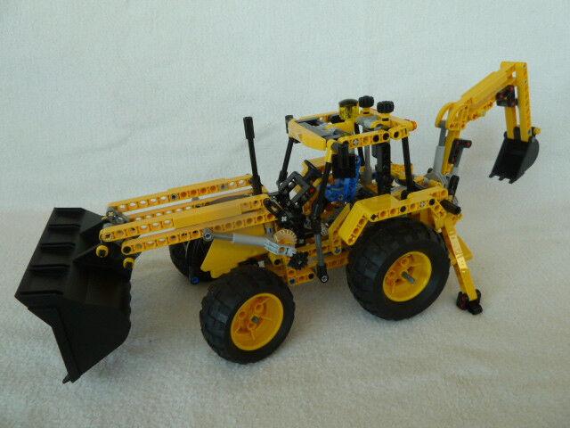 8069 Lego Technic Baggerlader Bagger Frontlader mit Bauanleitung – Guter Zustand