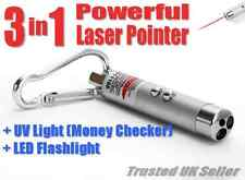3-in - 1 Mini Laser Pointer Pen torcia LED + + Controllo Soldi Cat Pet Toy Trave
