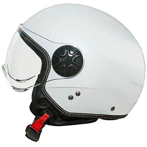 Casco Moto Jet One 77446110 Fly Visor Bianco