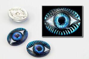 8mm x 10mm Bermuda Blue Oval Eye Cabochon (10 Pcs) #EYE009